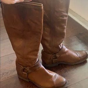 Frye Phillip Harness Tall Riding boots brown 10